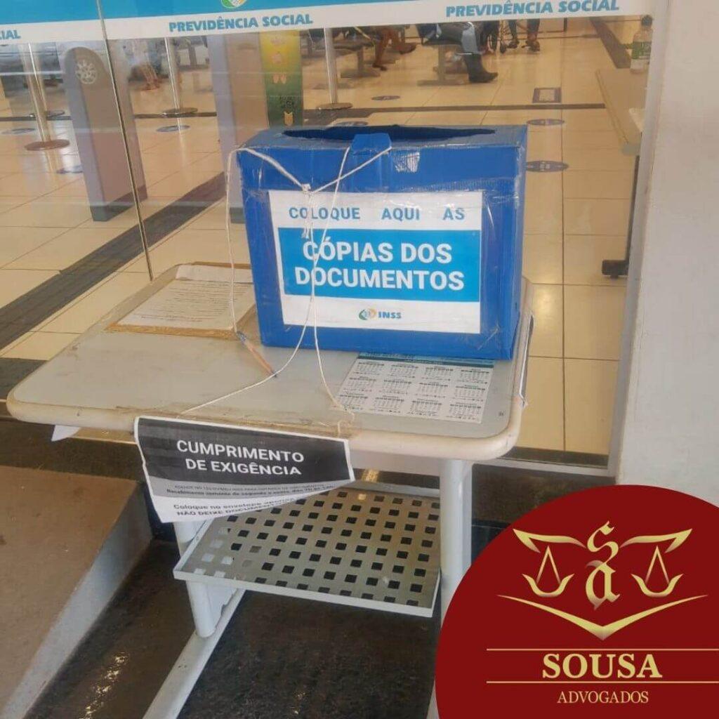 Caixa de exigência expressa do INSS